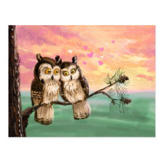 Seien Sie meine Valentinsgrußeulen Postkarte