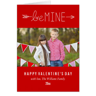 Seien Sie meine | Valentinstag-Karten Karte