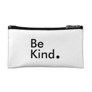 Seien Sie nett. Kosmetische Tasche