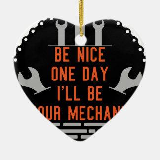 Seien Sie nettes Tagi ll ist Ihr Mechaniker Keramik Ornament