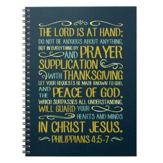 Seien Sie nicht besorgte - Philippians-4:5 - 7 Notizblock
