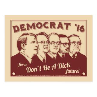 Seien Sie nicht ein Dick Postkarte