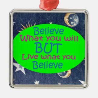Seien Sie nicht ein Heuchler Silbernes Ornament