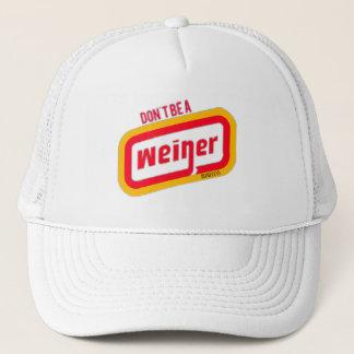 Seien Sie nicht ein Weiner Fernlastfahrer-Hut Truckerkappe