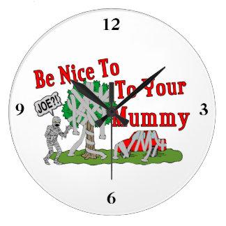 Seien Sie Nizza zu Ihrer Mama Große Wanduhr