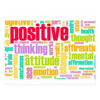 Seien Sie positiv! Bleiben Sie positiv! Postkarte