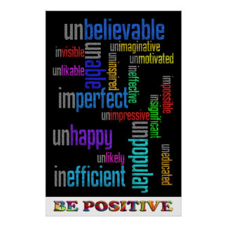 Seien Sie positiv Poster