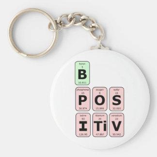 Seien Sie positives Periodensystem Schlüsselanhänger