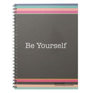 Seien Sie sich Notizbuch Spiral Notizblock