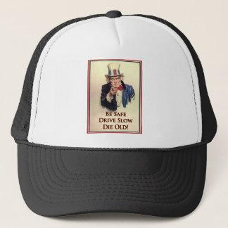 Seien Sie sicheres Uncle Sam Plakat Truckerkappe