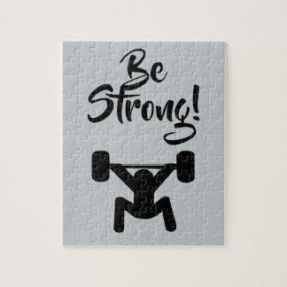 Seien Sie stark Puzzle