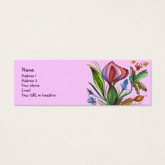 Seien Sie stark und wachsen Sie Mini Visitenkarte