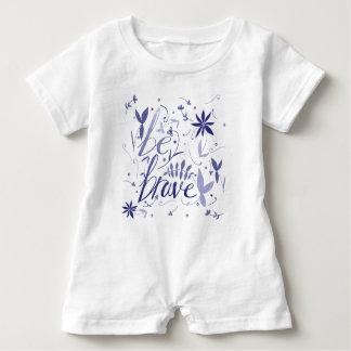 Seien Sie tapferes Blau Baby Strampler