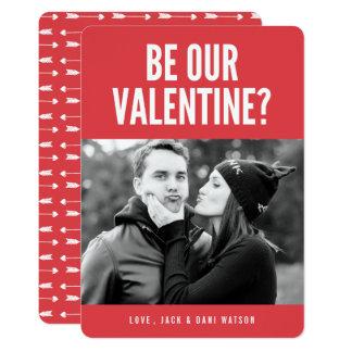 Seien Sie unsere Foto-Karte Valentinemoderne Karte