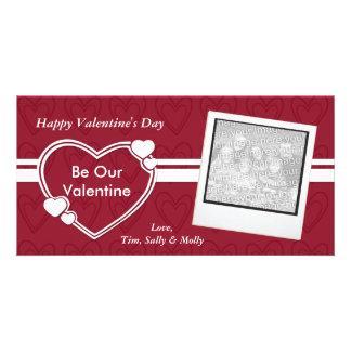 Seien Sie unsere Fotokarten Valentinevalentines Ta