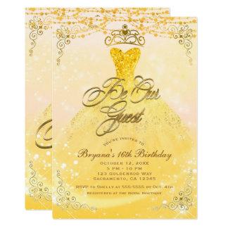 Seien Sie unsere Gast-Prinzessin Yellow u. Party Karte