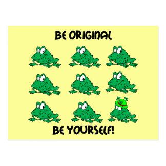 Seien Sie ursprünglicher irischer Frosch Postkarte