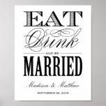 Seien Sie verheiratetes | Wedding Empfangs-Zeichen