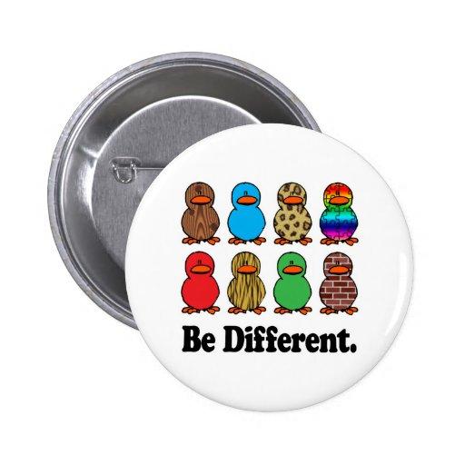 Seien Sie verschiedene Enten Button
