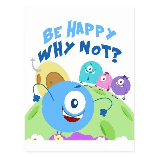 Seien Sie Yum Yum glücklich Postkarten