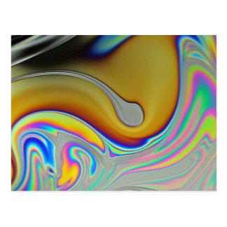 Seifenblasen-Oberflächen-Foto Postkarte