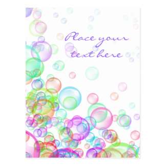 Seifenblasen Postkarte