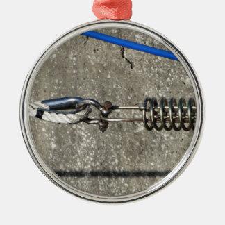 Seilriemen mit Sicherheitsankerfessel Silbernes Ornament