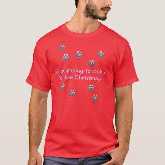 Sein Anfang, zum wie Weihnachten viel auszusehen T-Shirt