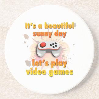 Sein ein schöner Tag - lassen Sie uns Videospiele Getränkeuntersetzer