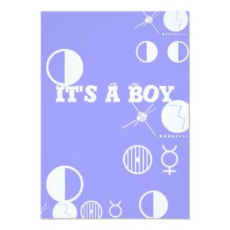 Sein eine Karte des Jungen (Geburtsmitteilung) 12,7 X 17,8 Cm Einladungskarte