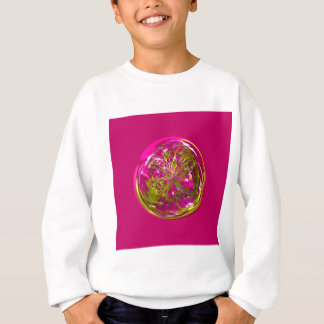 Sein eine lila und gelbe Blume in der Kugel Sweatshirt