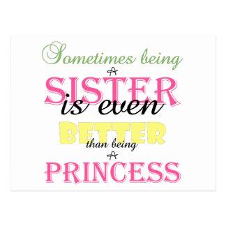 Sein eine Schwester ist sogar bessere rosa Postkarte