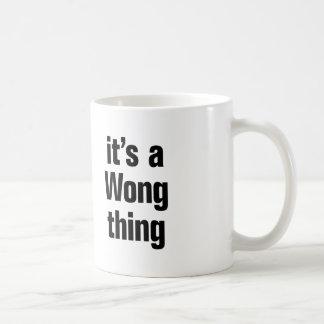 sein eine Wong-Sache Kaffeetasse