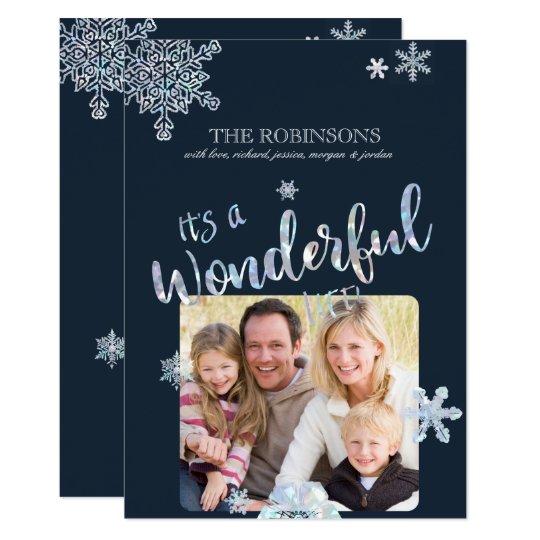 Sein eine wunderbare Leben-WeihnachtsFoto-Karte 12,7 X 17,8 Cm Einladungskarte