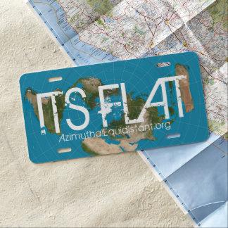 SEIN FLACHES Kfz-Kennzeichen | US Nummernschild