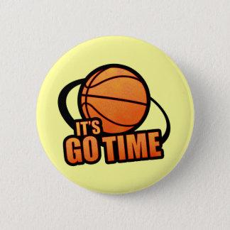 Sein gehen Zeit-Basketball-Knopf Runder Button 5,7 Cm