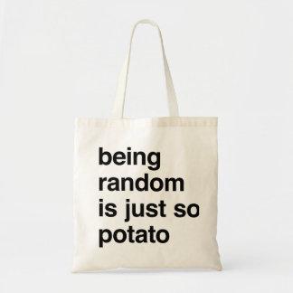 Sein gelegentlich ist Kartoffel Budget Stoffbeutel