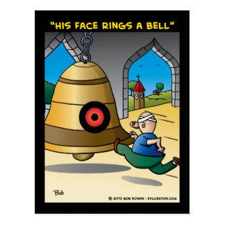 """""""Sein Gesicht schellt eine Bell """" Postkarte"""