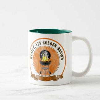 Sein goldenes Brown, der Vatertags-Tasse Zweifarbige Tasse