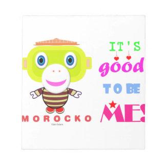 Sein gutes, mir-Niedlicher Affe-Morocko zu sein Notizblock