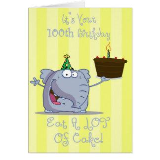 Sein Ihr 100. Geburtstag essen mehr Kuchen-Karte Karte