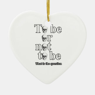 Sein oder Nichtsein Keramik Herz-Ornament