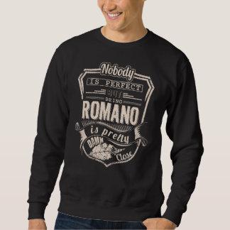 Sein ROMANO ist hübsch. Geschenk-Geburtstag Sweatshirt