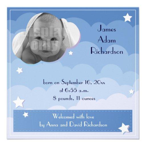 """Sein Schlafenpanda """"Geburts-Mitteilungskarte eines Personalisierte Ankündigungskarten"""