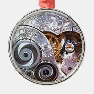 SEIN, WAS INNERE IST, DAS COUNTStm UHR BEARBEITET Silbernes Ornament