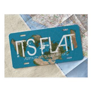 SEINE FLACHE Postkarte | AzimuthalEquidistant.org