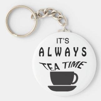 Seine immer Tee-Zeit Schlüsselanhänger