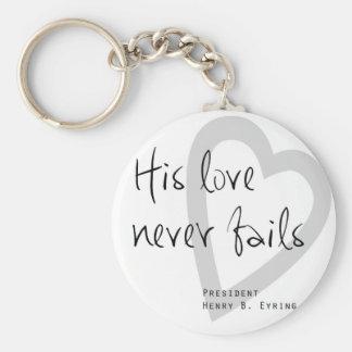seine Liebe versagt nie Henry b eyring lds Zitat Schlüsselanhänger