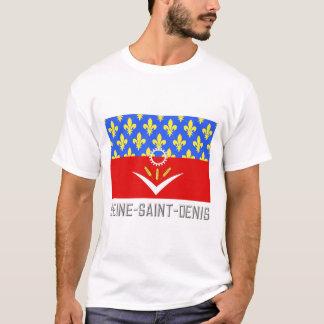 Seine-Saint-Denisflagge mit Namen T-Shirt