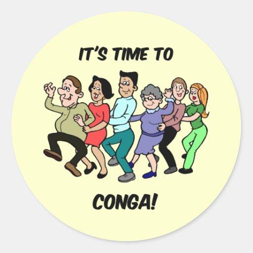 seine Zeit zu zur Conga Runde Sticker